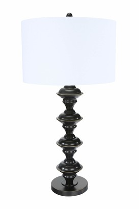 Creative Co-op Metal Candlestick Table Lamp Finish