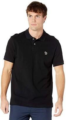 Paul Smith PS Regular Fit Zebra Polo (Black) Men's Clothing