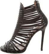 Tabitha Simmons Leather Cage Sandals