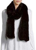 Saks Fifth Avenue Dyed Rabbit Fur Knit Scarf