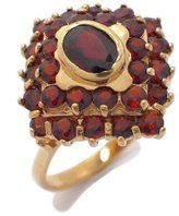 Tatitoto Gioie Women's Ring in 18k Gold with Garnet, Size 9, 7.8 Grams