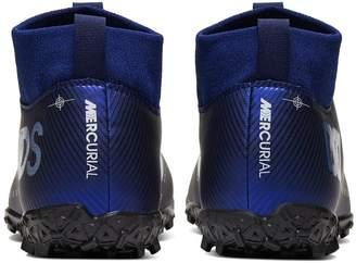 Nike Junior Mercurial Superfly 6 Academy Astro Turf Football Boots - Blue