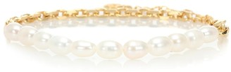 Anissa Kermiche Duel pearl and 18kt gold-plated anklet