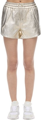 Lvr Exclusive Metallic Leather Shorts