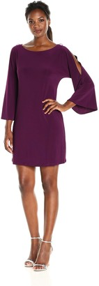 Tiana B T I A N A B. Women's Cold Shoulder Dress with Rhinestone Trim
