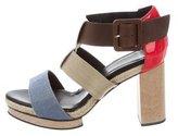 Pierre Hardy Woven Platform Sandals