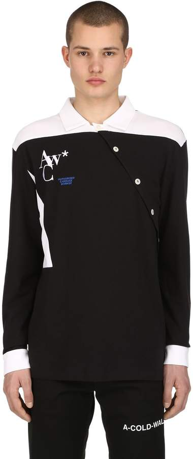 A-Cold-Wall* Two Tone Long Sleeve Cotton Shirt