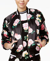 The Edit By Seventeen Juniors' Printed Bomber Jacket, Only at Macy's