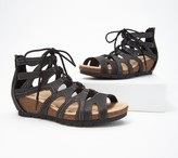 Earth Origins Leather Lace-Up Wedges -Kendra Kamilla
