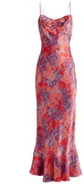Saloni Mimi floral-print silk-satin dress