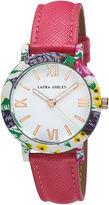 Laura Ashley Ladies Pink Band Floral Bezel Watch La31003Pk