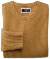 Charles Tyrwhitt Yellow Lambswool Rib Crew Neck Sweater Size Large