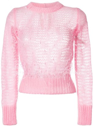 No.21 Open Knit Feather Sweater