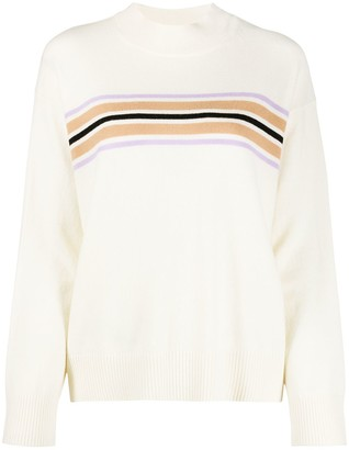 Chinti and Parker Striped Mock-Neck Jumper