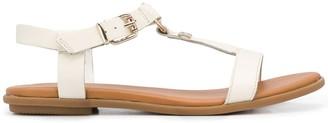 Tommy Hilfiger Strappy Logo Plaque Detail Sandals