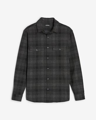 Express Slim Plaid Supersoft Flannel Shirt