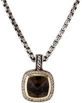 David Yurman Smoky Quartz & Diamond Pendant Necklace