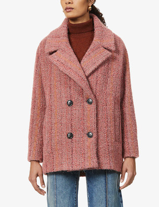 Sessun Beach House double-breasted woven coat