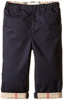 Burberry Trousers with Check Turn-Up Boy's Casual Pants