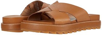 Sorel Roamingtm Crisscross Slide (Camel Brown) Women's Shoes