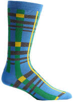Ozone Men's Tektonika Plaid Socks (2 Pairs) - Blue Casual Socks