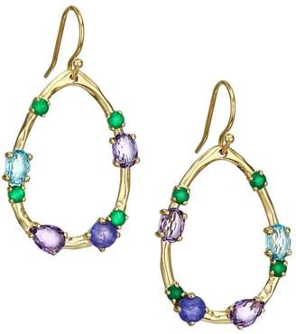 Ippolita Rock Candy 18K Yellow Gold & Multi-Stone Open Frame Earrings