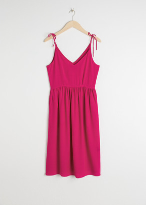 And other stories Tie Shoulder Midi Dress