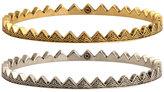 Engraved Triangle Bangle Set