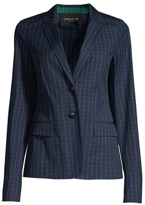 Lafayette 148 New York Thatcher Cotton Hatch-Pattern Blazer
