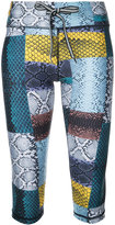 The Upside patched python fitness capris - women - Polyester - XXS