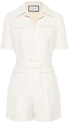 Gucci Wool and silk playsuit