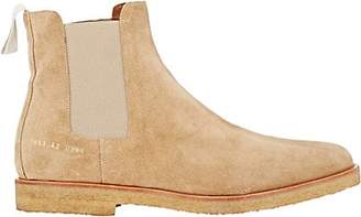 Common Projects Men's Suede Chelsea Boots - Lt. brown