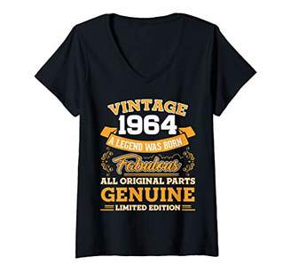 Womens Funny 56th Birthday Shirts 56 Years Old Gifts V-Neck T-Shirt