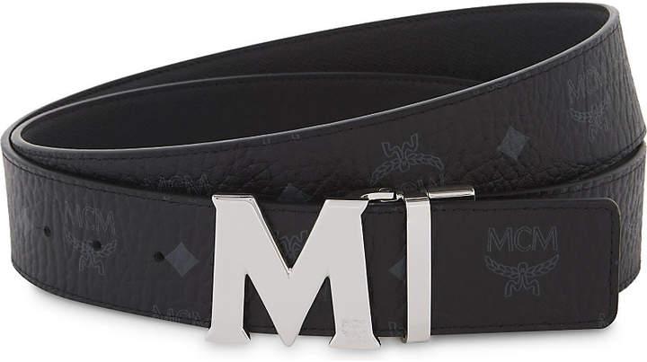 MCM Logo leather belt