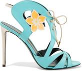 Nicholas Kirkwood Floral-embellished leather sandal