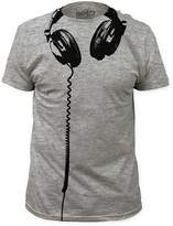 Impact Headphones big print subway fitted jersey tshirt-Heather