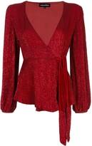 retrofete sequin embroidered blouse