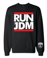 FTD Apparel Men's RUN JDM New Drive Badge Sign Crew Neck Sweater