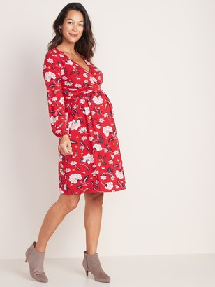 Old Navy Maternity Waist-Defined Cross-Front Jersey Dress