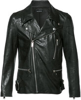 Christian Dada zip up biker jacket - men - Sheep Skin/Shearling/Cupro - 48