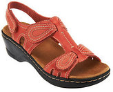 Clarks As Is Leather Sandals w/Adjustability - Lexi Walnut