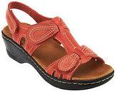 Clarks As Is Leather Sandals w/Adjustability - Lexi Walnut