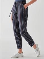 People Tree Georgina Stripe Trousers, Navy Multi