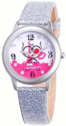 Red Balloon Girs' Red Baoon Paris 'Amour Stainess Stee Gitz Watch - Siver