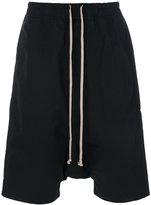 Rick Owens drawstring drop-crotch shorts - men - Cotton/Polyamide - S