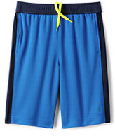 Classic Boys Husky Active Mesh Shorts-Blue Seersucker Stripe