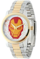 Marvel Iron Man Mens Two-Tone Stainless Steel Watch