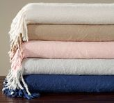 Pottery Barn Solid Faux Mohair Oversized Throw