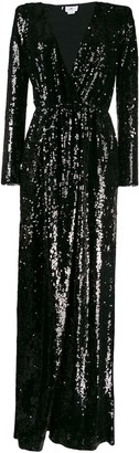 Elisabetta Franchi V-neck sequin dress