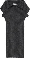 Jil Sander Fold-over ribbed wool and cashmere-blend scarf